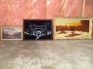 Three Landscape Paintings