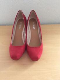 Like brand new red shoes