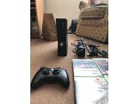 Xbox 360 w/games, leads and controller