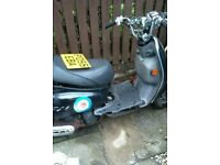 Two 49cc Scooters for spares or repairs or swop for other motorcycle.Scooters are Boation and Sym.