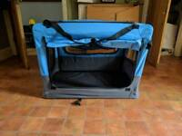 Folding portable dog crate