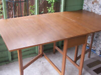 Folding dining / kitchen table, 33 x 60 inches or 33 x 14 inches