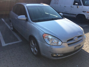 2007 Hyundai Accent GS w/Sport Pkg Coupe (2 door) PARTS CAR