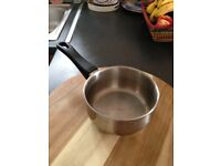 1 small stainless steel pan (15cm)