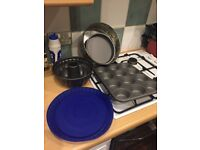 Cake tins, muffin baking tray, cookie cutters, tortenboden, gugelhupf
