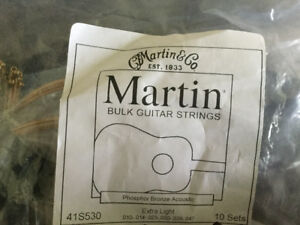 7 sets of Martin acoustic strings!