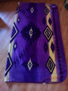 Purple and yellow blanket