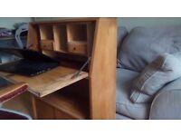 Solid Oak Bureau with shelves