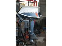 Evinrude 5.5hp fisherman outboard engine with tiller
