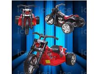 This harley style motorbike, The model is highly detailed from chrome style spokes,