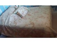 Beautiful King size embroidered throw for double or king size bed with two matching cushions