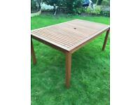 Large wooden garden table - 100 x 161 x 74cm