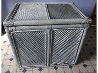 "REDUCED!! LAUNDRY BOX/TRUNK IN CANE - EXCELLENT CONDITION: H 57cm (22½""); W 64cm (25""); D 46cm (18"")"