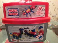 Mega Bloks Tub Of Various Coloured Building Blocks