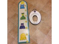 Child's Height Chart- child's height 2 feet to 5 feet 3 inches- AND- Child's toilet seat