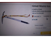 grivel munro ice axe new