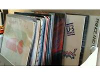 Collection of around 50 7 inch vinyl records mainly 80s including Prince Eurythmics