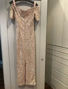 Vintage Off the shoulder sequinned gown