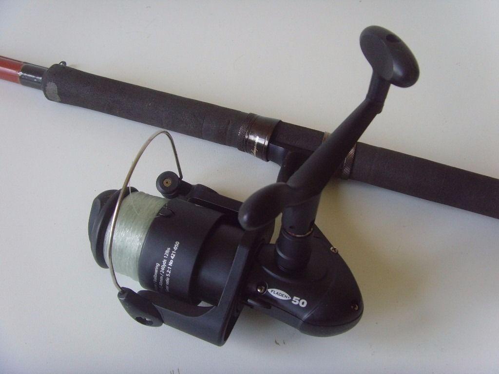 shakespeare firebird leger 1802 270 rod with fladen 50 charter reel