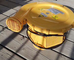Air blower for inflatable bouncy house/slide