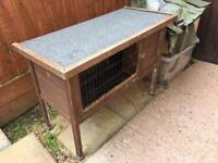 Guinea Pig hutch with outdoor cover