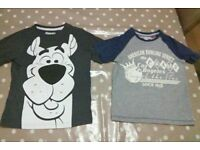 Two boys 5-6 year old short sleeved t-shirts from tu at sainsburys