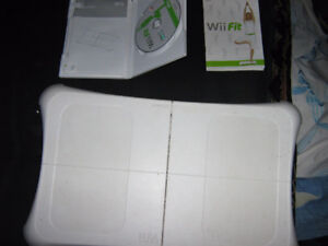 Wii fit game with board