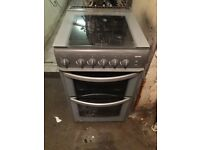 HOTPOINT SILVER 50CM WIDE GAS COOKER EXCELLENT CONDITION, 4 MONTH WARRANTY