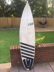 6'2 SDF surf board