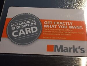 Marks gift card for