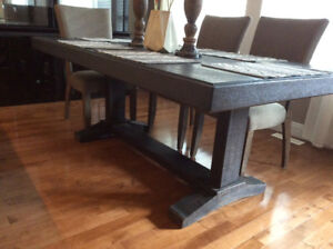 dining table with or without bench