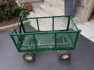 Metal wagon with Inflatable tires