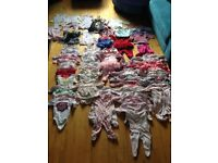 Baby girl clothes bundle 76 items