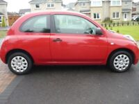 nissan micra 1240cc red 59 plate 1495 no offers swap for van