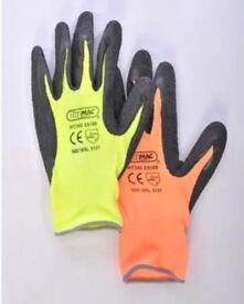 Hi Viz work gloves - cheap -job lots- clearance wholesale