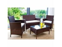 Brand New Rattan Garden Furniture Set - Clearance Sale ONLY £99