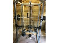 Bodymax cf475 power rack+ 195 kg olympic weights, multi gym