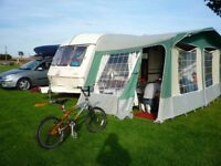 ABI AWARD DAYSTAR - 2 BERTH (2 adults 1 child) TOURING CARAVAN Inc. AWNING, SIDE BEDROOM ANNEX