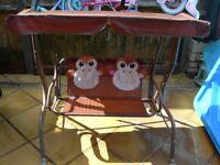 KIDS CANOPY GARDEN SWINGS X 2---MONKEYS AND FROGS!!!!!
