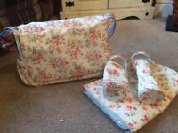 Cath Kidston changing bag, mat and bottle warmers
