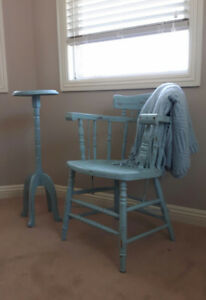 adorable early 20th century arm chair table - Home Decor Calgary