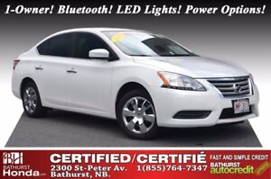 2015 Nissan Sentra 1.8S Certified! New Tires! 1-Owner! Bluetooth