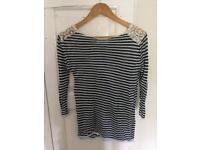 Women's Zara knit 3/4 sleeve top