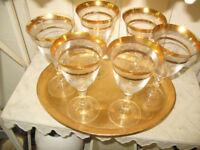 Wine glasses & Tray
