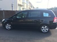 7 seater black Vauxhall Zafira, quick sale mot june17th 2018, good condition £1600 ono