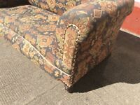 ANTIQUE ROLL-TOP 2 SEATER SOFA