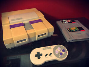 SNES Super Nintendo With Controller and Games