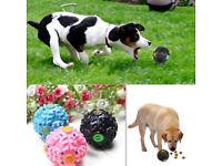 Medium Giggle Ball Pet Dog Tough Treat Training Chew Sound Activity Toy Squeaky