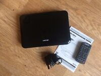 Bush 10'' Portable DVD Player with manual, remote and charger