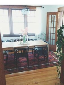 EQ3 Harvest dining table and danish chairs